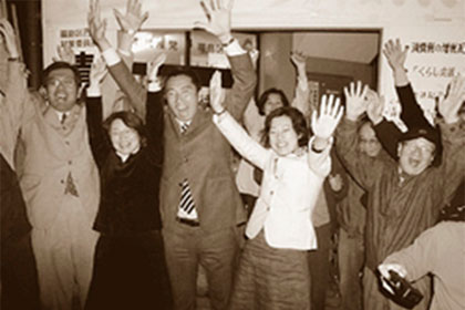 大阪市会議員選挙、定数2の福島区選挙区でトップ当選を果たす