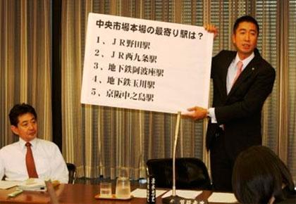 文教経済委員会で中央市場活性化問題を質問
